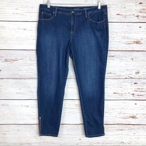 Bristol skinny ankle jean with ankle zipper